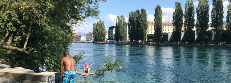L'eau dans la ville, le corps dans l'eau - s'est-on toujours baigné dans le Rhône ?