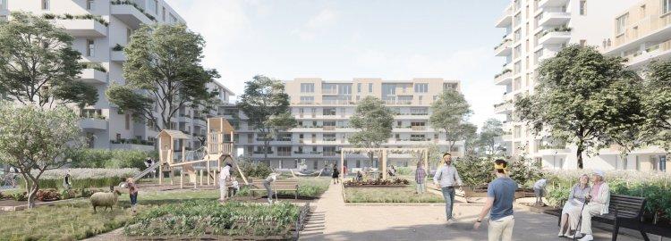 Communaux d'Ambilly, pièce A4 Côté rue, Côté jardin - PROJET