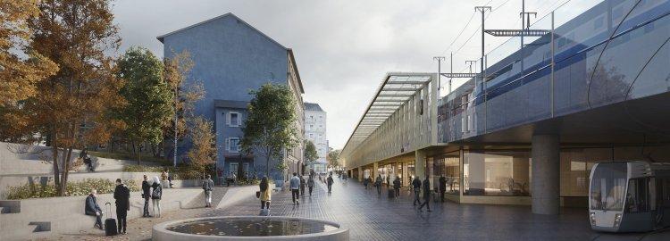 Réaménagement du secteur de la gare de Cornavin a Genève – Face Montbrillant